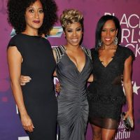 NEW YORK, NY - OCTOBER 13: (L-R) Tracee Ellis Ross, Keyshia Cole, and Regina King attend BET's Black Girls Rock 2012 CHEVY Red Carpet at Paradise Theater on October 13, 2012 in New York City.  (Photo by D Dipasupil/Getty Images for BET)